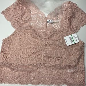 Free People soft pink lace Brami
